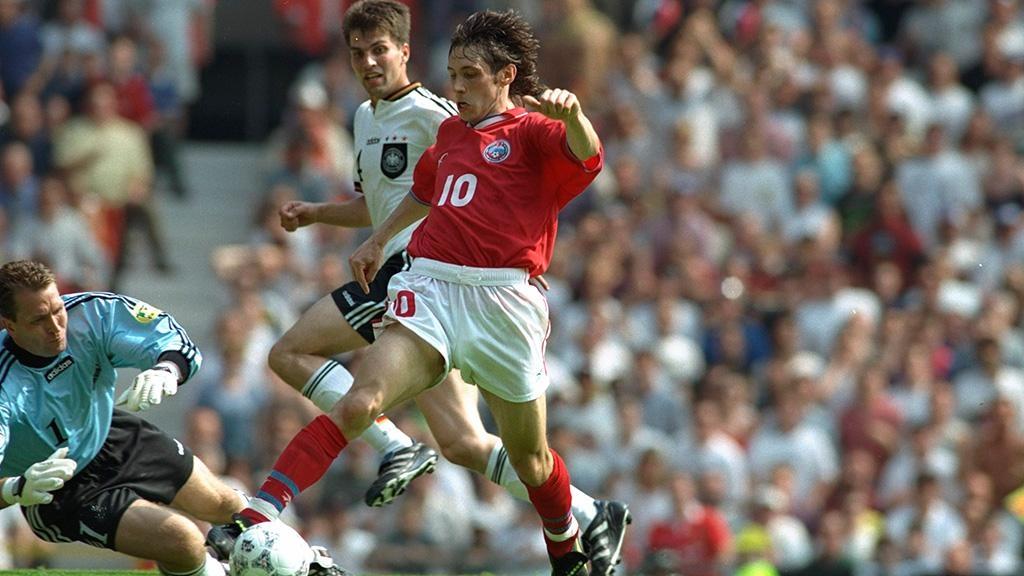 Александр Мостовой в составе сборной России на чемпионате Европы-1996