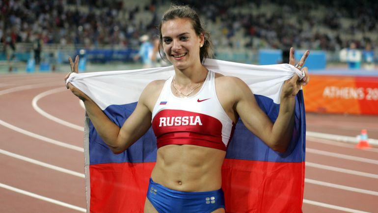 Елена Исинбаева - олимпийская чемпионка 2004 года