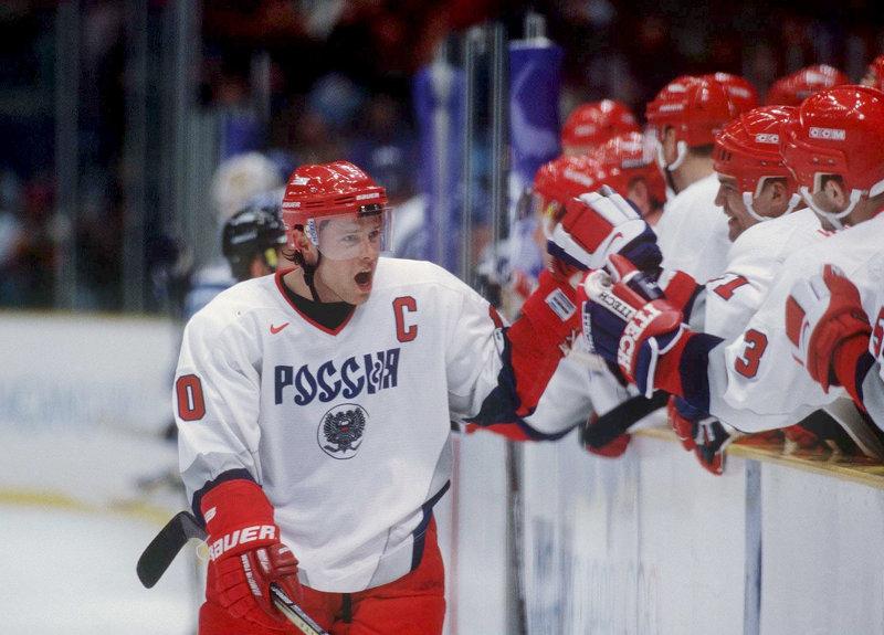 Павел Буре - лидер сборной России на Олимпиаде-1998