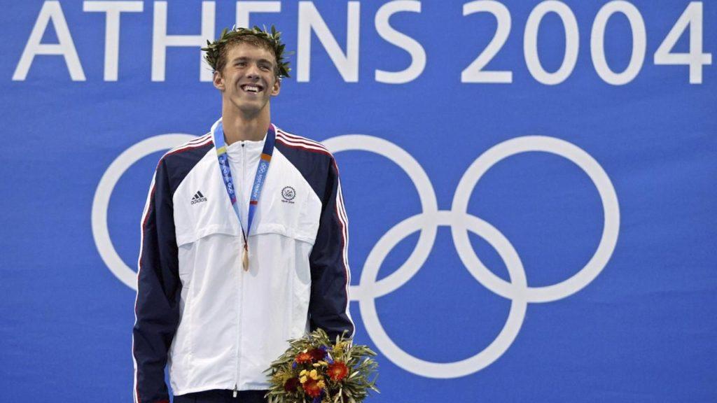 Майкл Фелпс на Олимпиаде-2004