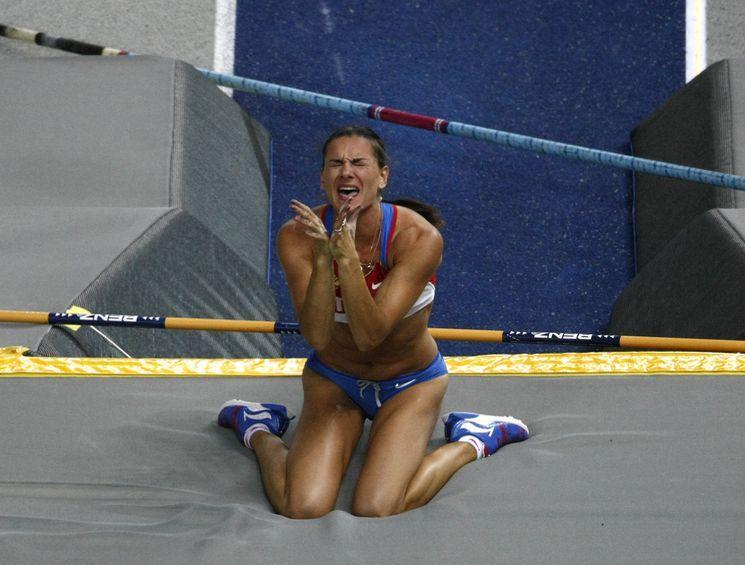 Елена Исинбаева на чемпионате мира-2009