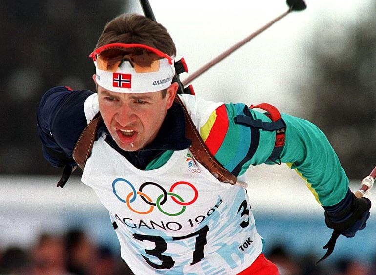 Уле Эйнар Бьорндален на Олимпиаде-1998 в Нагано