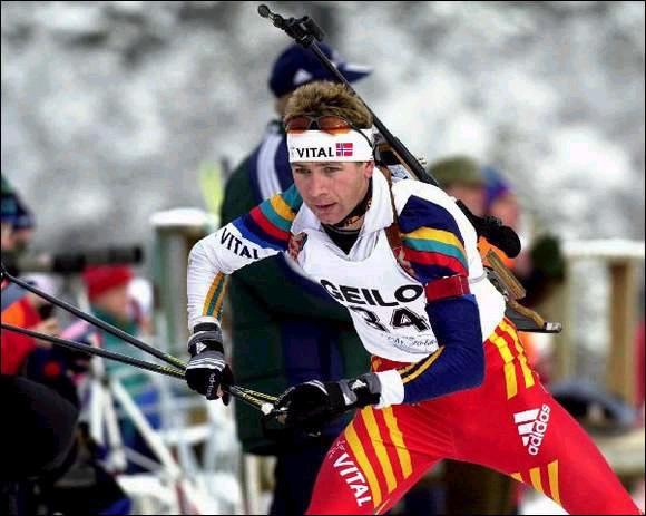 Уле Эйнар Бьорндален на этапе Кубка мира