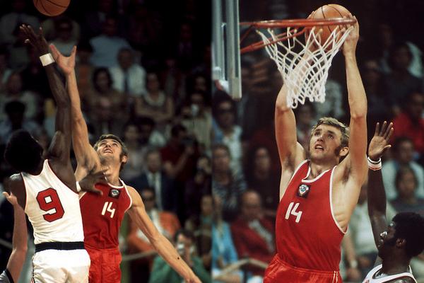 Александр Белов в финальном матче Олимпиады-1972 СССР-США