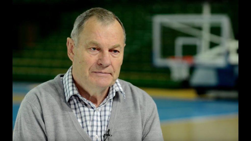 Модестас Паулаускас на записи интервью